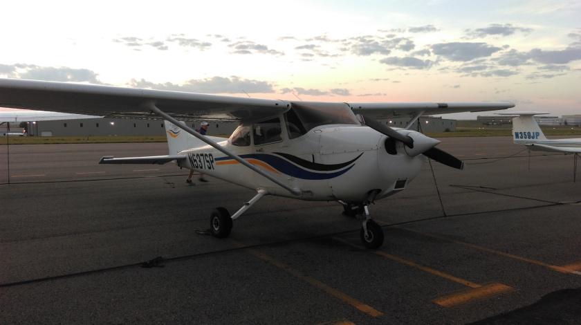 Cessna plane sunrise